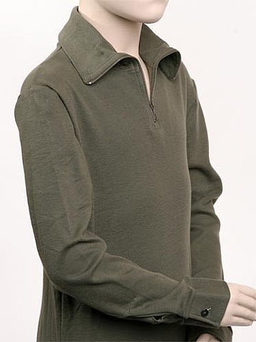 French Military Zipper Turtleneck