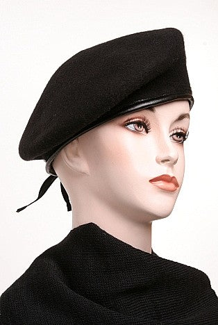 Black Wool Beret US Army Issue-New