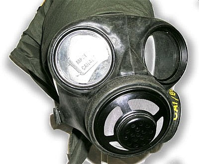 Canadian Gas Mask w/ Filter and Adapter