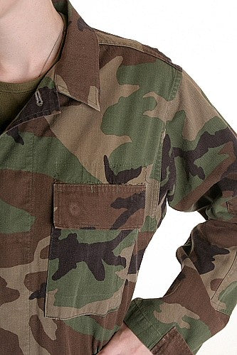 Woodland GI Combat Shirt -U.S.A. - WITHOUT INSIGNIA