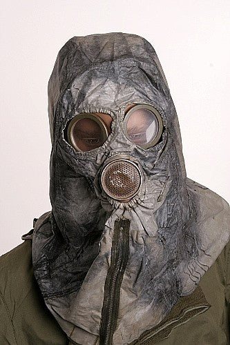 Chemical Warfare Hood-Dual Respirator
