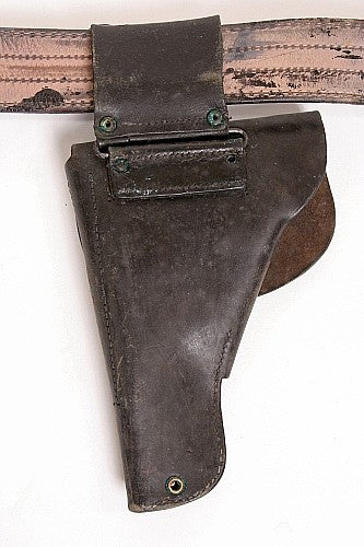 Holster Black Leather Flapped