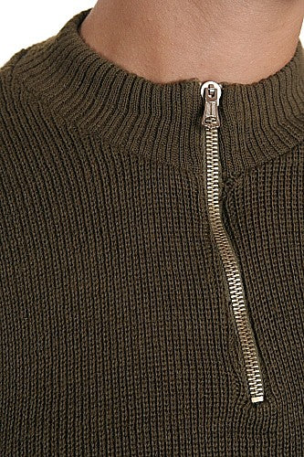 French Army Zip Sweater
