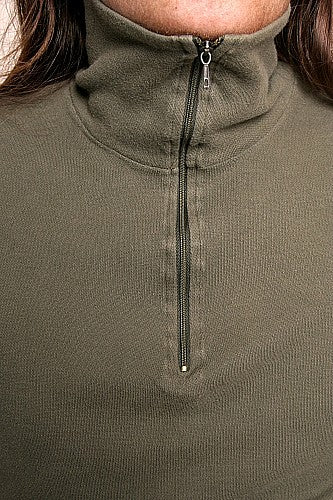French Zippered Turtleneck Shirt