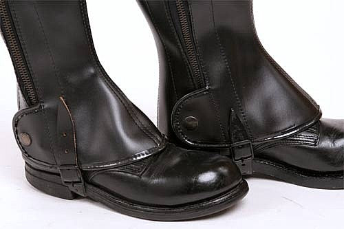 Leatherette Boot Gaiters Parade Gloss
