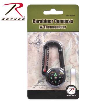 Carabiner Compass/Thermometer