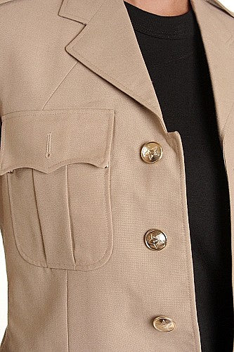 Naval Service Tan Dress Jacket