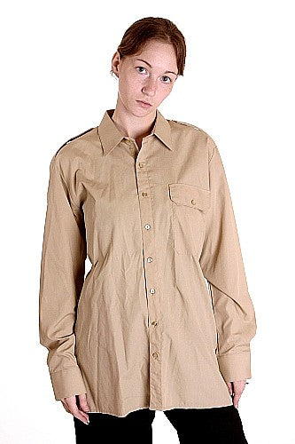 W  Khaki Officers Shirt LS