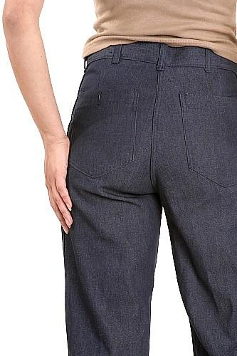 Women's Authentic Navy Bell Bottom Dungaree Pants