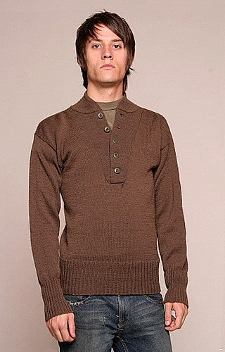 US Mens 5 button wool jeep sweater