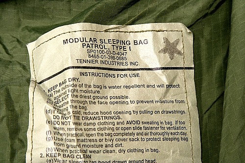 US Modular Sleeping Bag Outer Olive