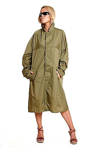 W  French Trench-Nylon Trenchcoat