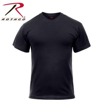 Solid Color Cotton / Polyester Blend Military T-Shirt