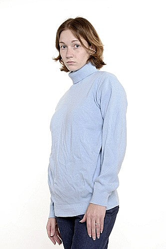 Womens Turtleneck Sweater Airforce Blue