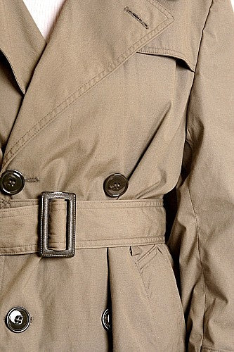 USMC  Spy Trench Coat-Lined Double Breasted