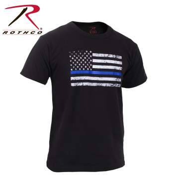 Kids Thin Blue Line US Flag T-Shirt