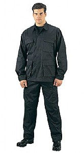 WAR ARMOR Black Rip-Stop BDU Set