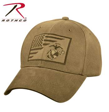 USMC Eagle, Globe and Anchor / US Flag Low Pro Cap
