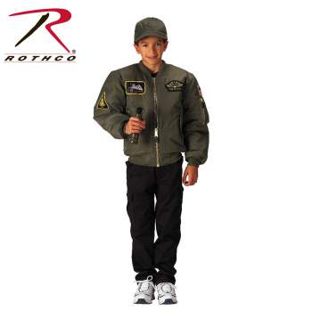 Kids Flight Jacket With Patches