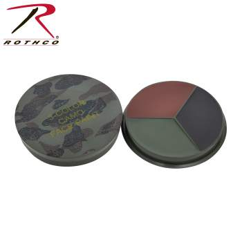 Round Camo Face Paint Compact - Woodland Camo