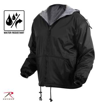 Reversible Lined Jacket With Hood