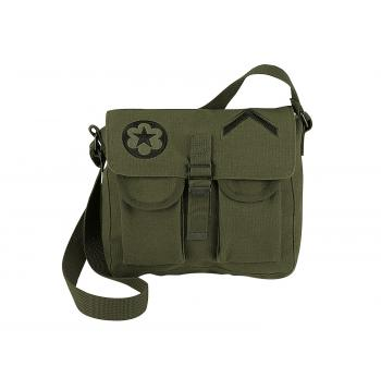 Canvas Ammo Shoulder Bag w/ Military Patches