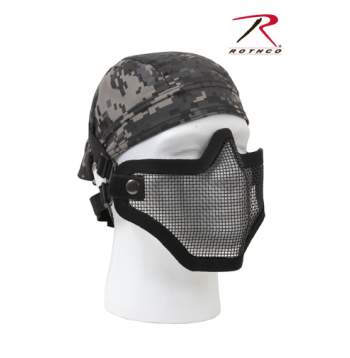 Carbon Steel Half Face Mask - Black