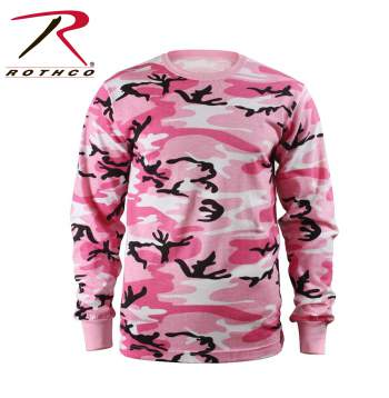 Long Sleeve Colored Camo T-Shirt