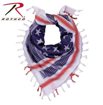 Stars and Stripes US Flag Shemagh Tactical Desert Keffiyeh Scarf