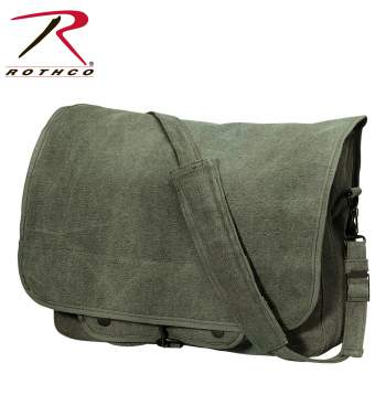 Vintage Style Canvas Paratrooper Bag