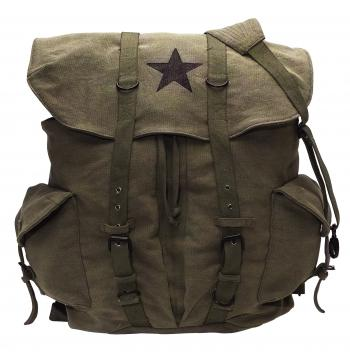 Vintage Style Weekender Canvas Backpack