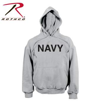 Navy Pullover Hooded Sweatshirt