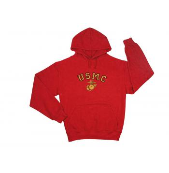 USMC Eagle, Globe & Anchor Pullover Hooded Sweatshirt