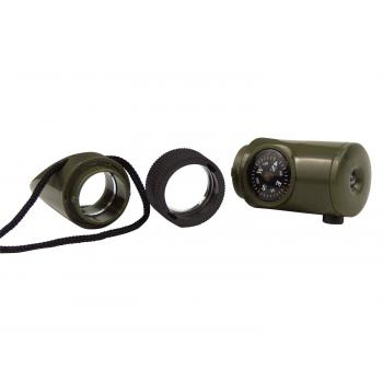 6-in-1 LED Survival Whistle Kit