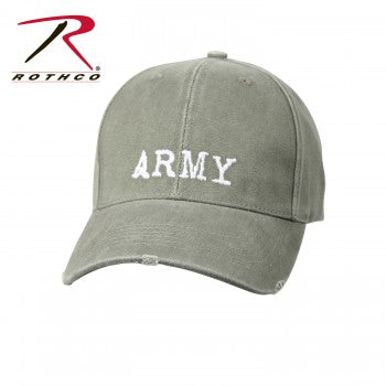 Vintage Style Army Low Profile Cap