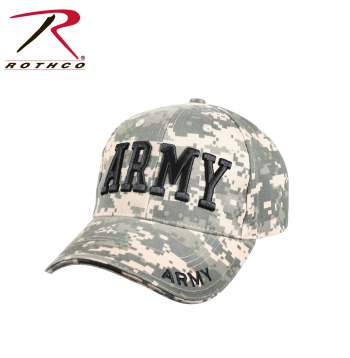 Deluxe Army Embroidered Low Profile Insignia Cap