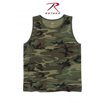 Vintage Style Woodland Camo Tank Top