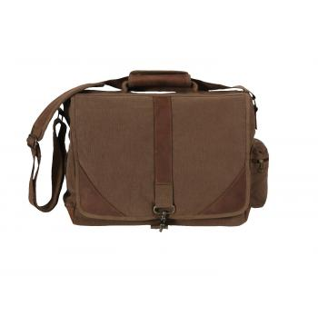 Vintage Style Canvas Urban Pioneer Laptop with Leather Accents