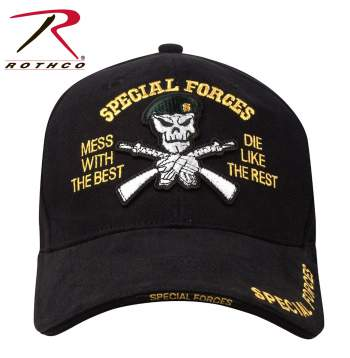 Deluxe Low Profile Special Forces Insignia Cap