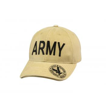 Vintage Style Deluxe Army Low Profile Insignia Cap