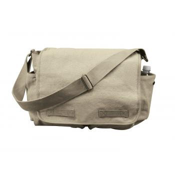 Vintage Style Washed Canvas Messenger Bag