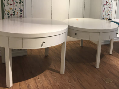 Large White Round Table