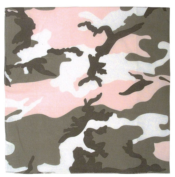 "22"" Colored Camo Bandana"