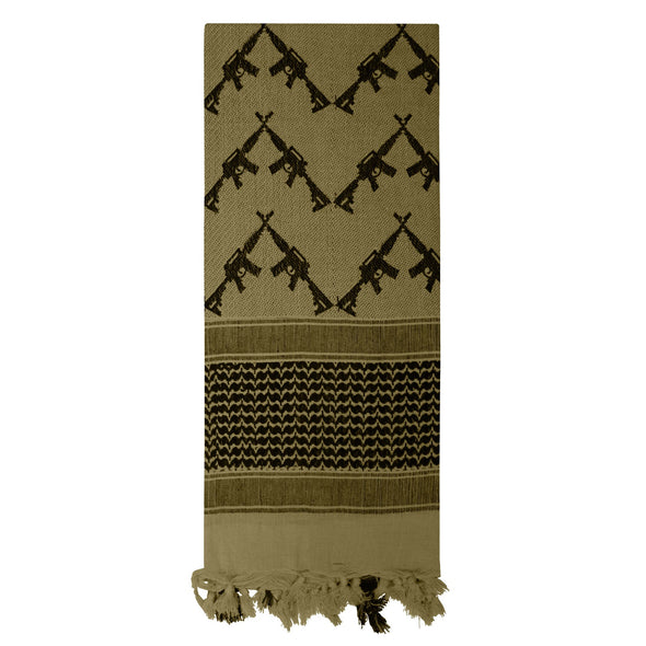Crossed Rifles Shemagh Tactical Desert Keffiyeh Scarf