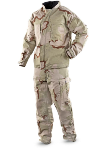 New US Army 3 Desert Camo Chemical Protective Suit