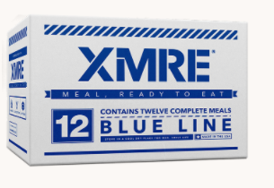 XMRE Blue Line -  Meals Ready to Eat - Made in the USA -FRH Included