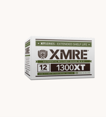 XMRE 1300XT - Meals Ready to Eat - Case of 12 - Made in the USA -FRH Included