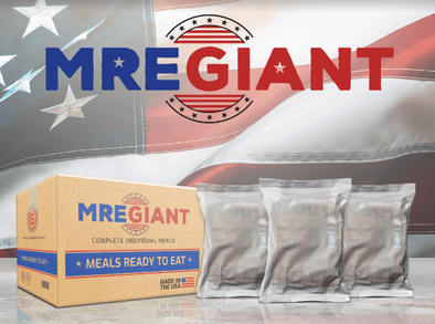 MRE Giant - Meals Ready to Eat - Case of 12 - Made in the USA - FRH included