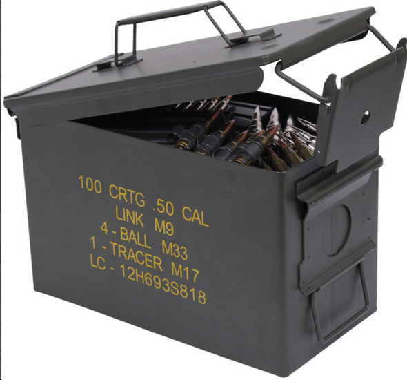 Authentic Military 50 Cal Ammo Can - USA