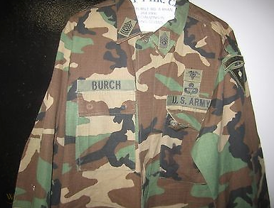 Men's Woodland Camo BDU Shirt/Jacket- USA WITH INSIGNIA